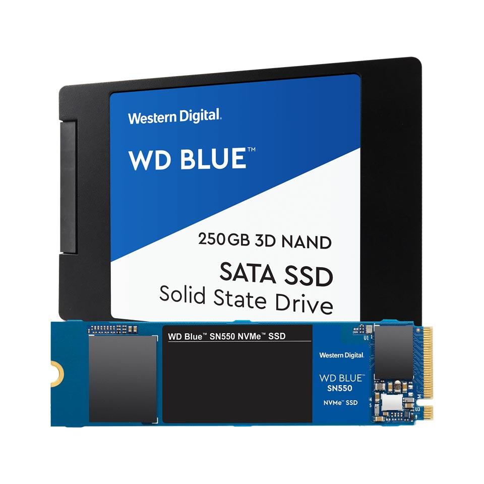 SSD اینترنال SATA و NVMe سری Blue وسترن دیجیتال