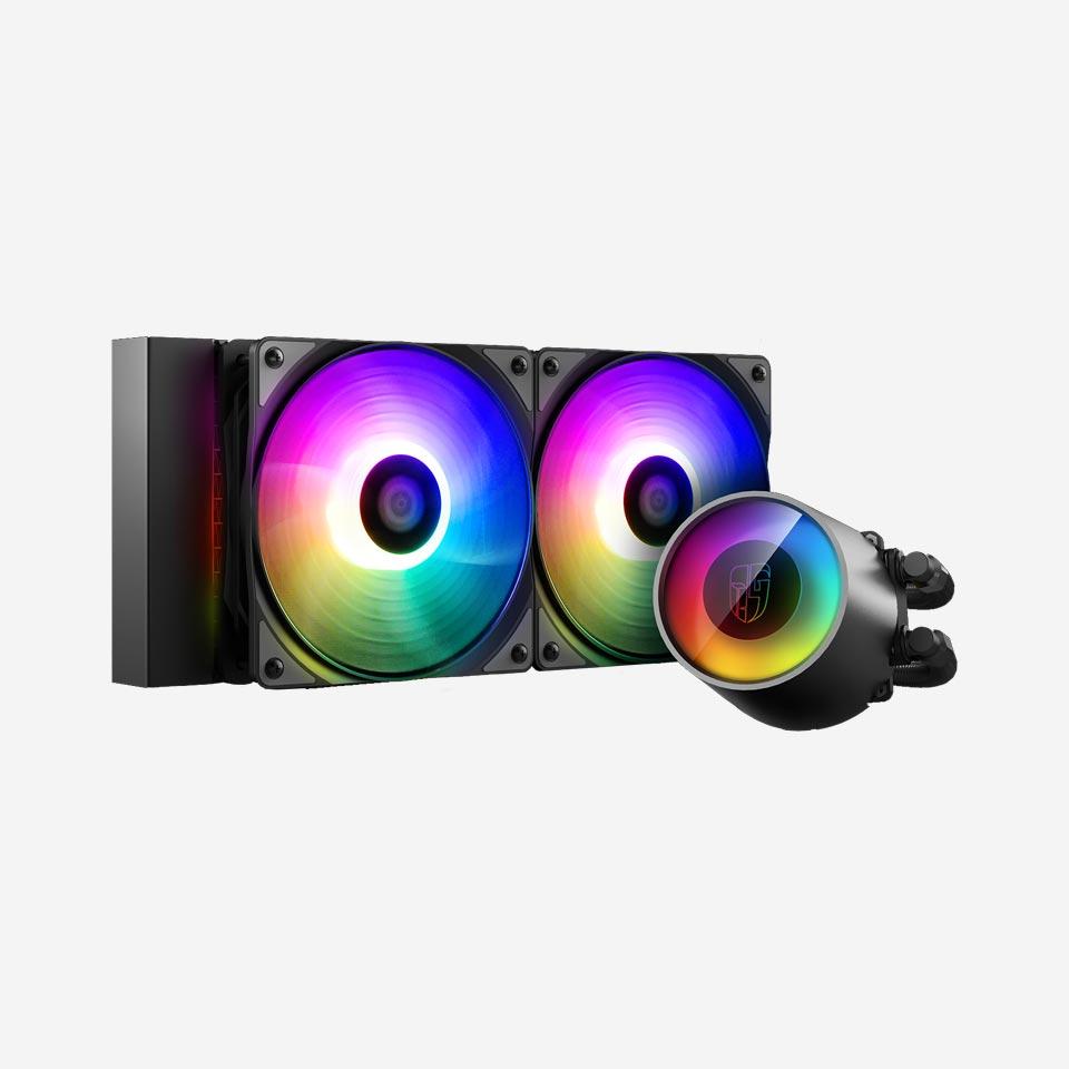 خنک کننده مایع پردازنده دیپکول CASTLE 240 RGB V2