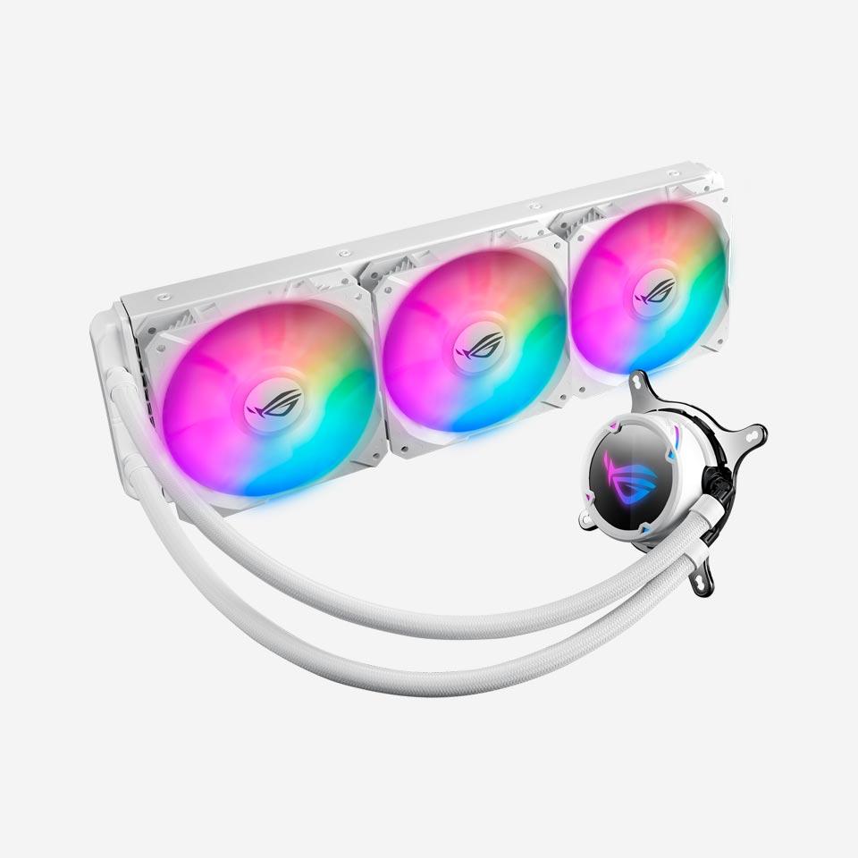 خنک کننده مایع پردازنده ایسوس ROG Strix LC 360 RGB White Edition